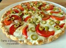 tarta z pomidorami i mozarella