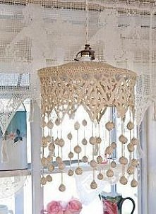 szydełkowa lampa:)
