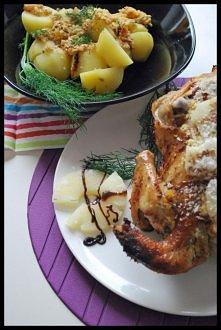 Złocisty kurczak w kokosie z farszem ananasowo- pomarańczowym