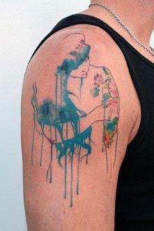 tattoo akwarela