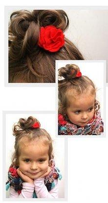 Kwiatki z filcu do włosów dla dzieci