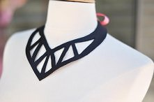 Leather Cut-out Necklace DI...