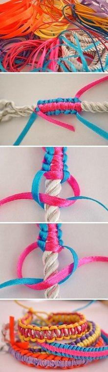 .braided bracelet.