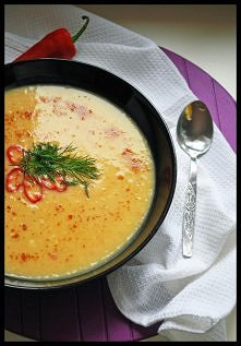 Meeega ostra zupa krem z dyni z papryczką chili ;) TYLKO DLA TWARDZIELI ;)