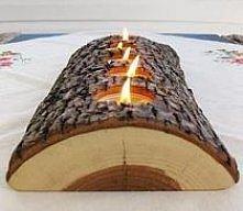 Swiecznik z drewna