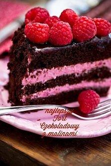 Tort czekoladowo - malinowy...