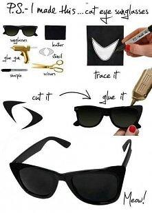 Jak zrobić stylowe okulary :)
