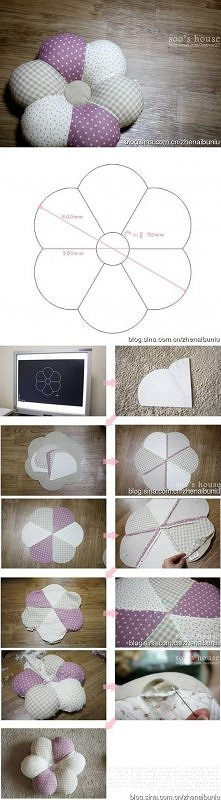 diy, flower, pillow, handma...