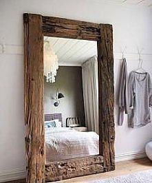 lustro w drewnie - piękne!
