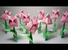 Tulipan! Nadmuchiwany.  origami, tulipan, tulip, flower, kwiatek,