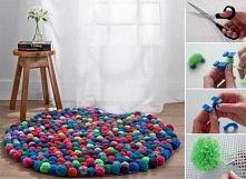 dywan z pomponów