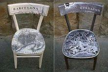 Pomysł na krzesło decoupage