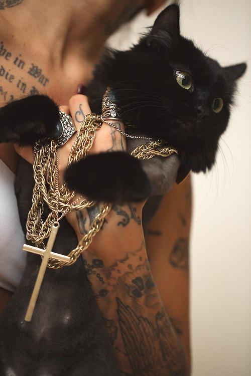 Czarny Kot I Tatuaże Na Something Nice Zszywkapl