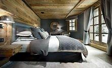 sypialnia w górskiej chacie
