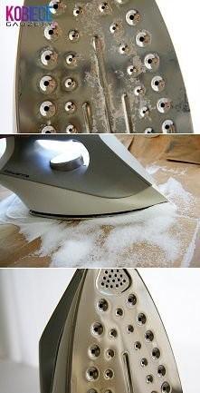 Czyścimy żelazko, gorące żelazko+sól.