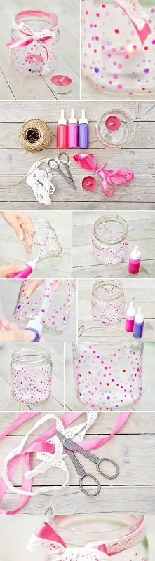 diy, paint, glass, candle, nightlight, tutorial