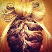 kokardka z włosów <3