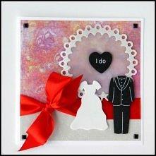 Piankowi Nowożeńcy Kartka Ślubna