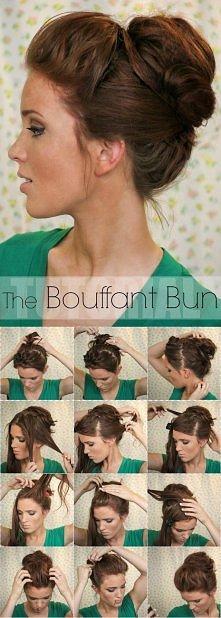 The bouffant bun