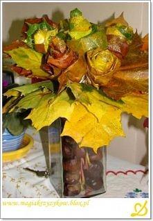 bukiet z jesiennych liści