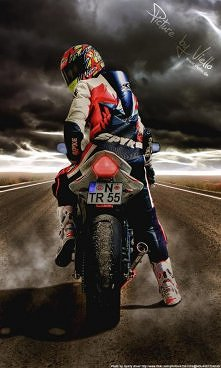 Motocykle to nasza pasja już na całe życie, Dzięki dwóm kołom czujemy sie na szczycie, i Tylko śmierć może tą - cienką nić przerwać, Tylko śmierć może od tej pasji nas oderwać