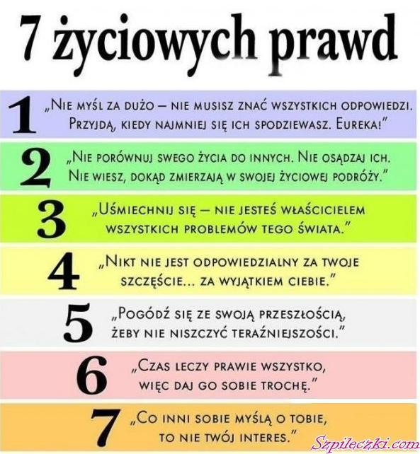 7 życiowych Prawd Na Teksty Zszywkapl