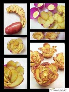 Kwiatki z ziemniaków