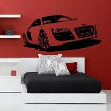 Audi R8 naklejka na ścianę :)