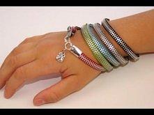 zipper, bracelet, tutorial, handmade