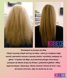 sposób na gładkie i błyszczące włosy♥♥♥