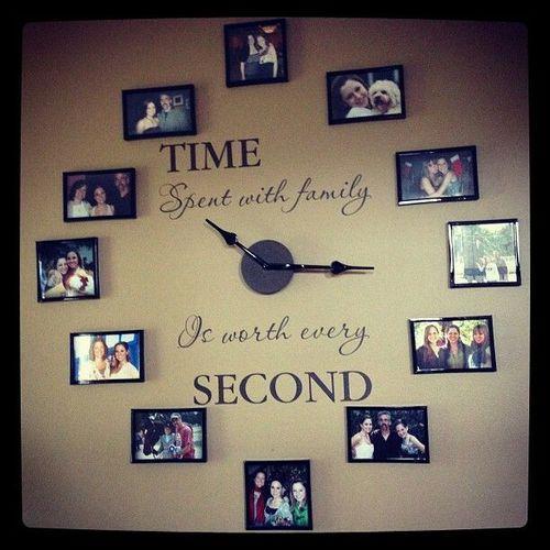 Second Home Decorating Ideas: Zegar Na ścianę Ze Zdjęciami Na Pomysły
