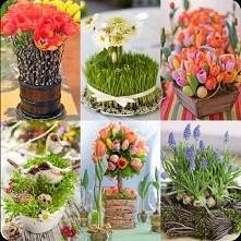 wiosenne dekoracje, więcej na kraina-zieleni.blogspot.com