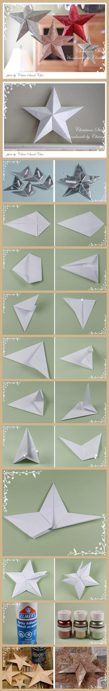 Paper art - making a Christmas star