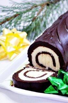 Rolada czekoladowa z kokoso...