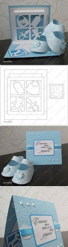 diy, newborn, card, template, tutorial, handmade