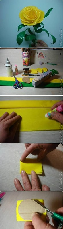 diy, handmade, roses, tutorial