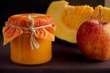 dżem z dyni i jabłek: składniki:  1 1/2 kg obranej dyni 1 kg jabłek 1/2 szkla...
