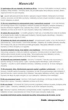 Przepisy na domowe maseczki