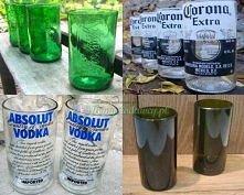 Zrób szklanki z butelek po...napojach ;)