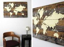 DIY: vintage mapa świata, o...