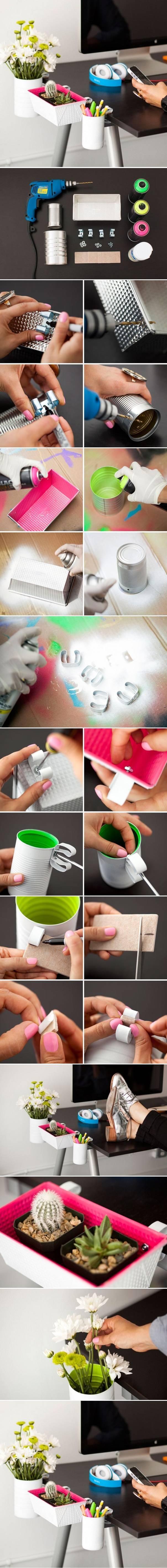 genialny pomysł na organizację biurka :)