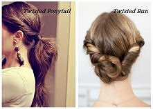 twisted ponytail OR twisted...