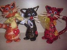 Kociaki z papierowej wikliny