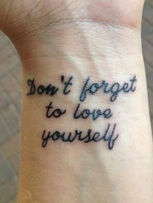 Don't forget to love yourself!