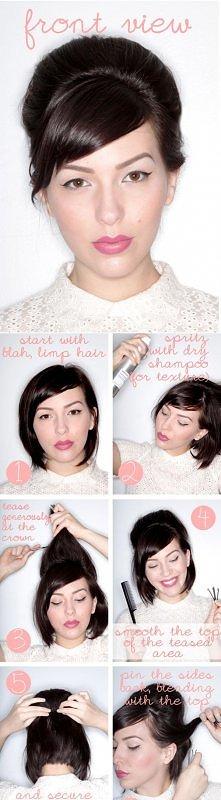 upięcie na krótkie włosy