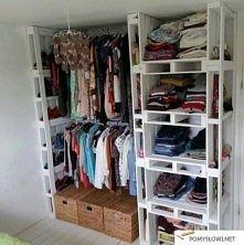 Garderoba z palet :)