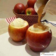 Lody podane w jabłkach