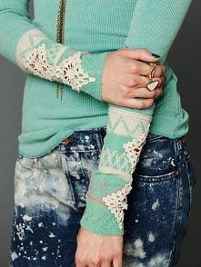 sweterek,koronka,artystyczn...