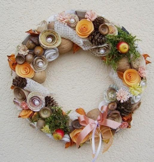 Jesienny wianek EKO. Kliknij aby zobaczyć więcej!
