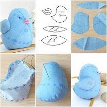 niebieski kurczaczek